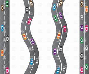 Cars on roads - highway top view Vector Clipart Image ...