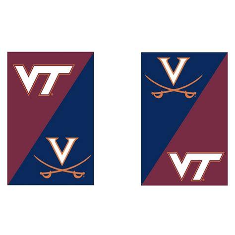house divided uva va tech garden flag