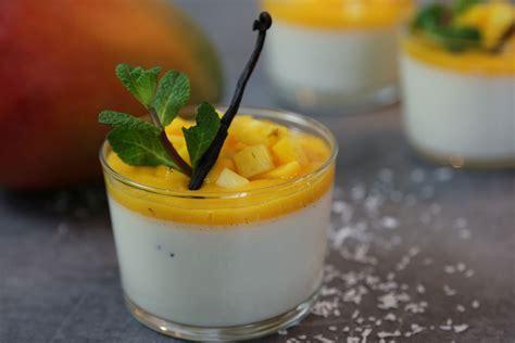 hervé cuisine panna cotta recette facile de la panna cotta exotique vanille et mangue