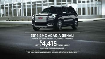 gmc black friday sales event tv commercial sleep ispottv