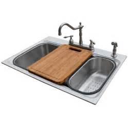 shop american standard 22 in x 33 in silver single basin - American Standard Kitchen Sink Faucets