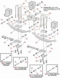 Great Dane Trailer Model R Suspension Replacement Parts