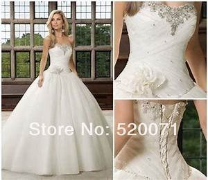 beautiful ball gown sweetheart sleeveless crystals tulle With white ivory wedding dress