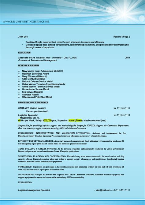 logistics all in one pack sle resume writing service