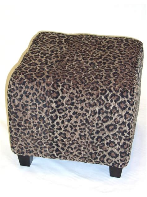 large animal print ottoman 4d concepts leopard ottoman in leopard print cloth
