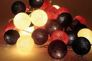 Guirlande Lumineuse Boule Exterieur : boule de coton guirlande noel decoration ~ Dode.kayakingforconservation.com Idées de Décoration
