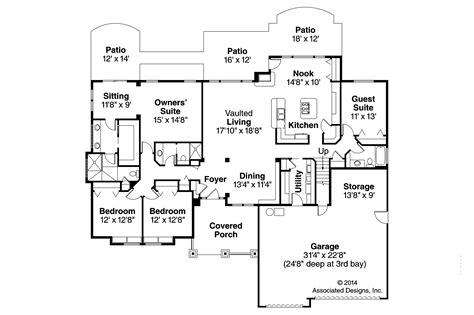 craftsman floor plans craftsman house plans pinedale 30 228 associated designs