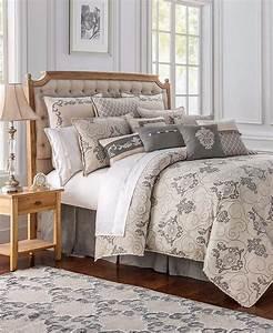 Waterford, Linens, Maura, Queen, Comforter, Set, Natural, 4