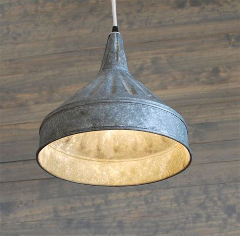 Farm Lighting by Modern Farmhouse Lighting With Galvanized Pendant Funnel