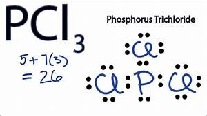Pcl3 Lewis Structure - How To Draw The Lewis Structure For Pcl3  Phosphorus Trichloride