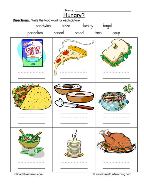 food worksheets for esl students the best and most