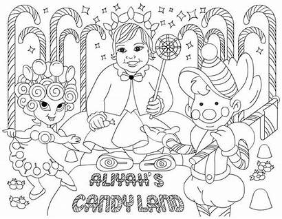 Candyland Coloring Pages Candy Birthday Party Land