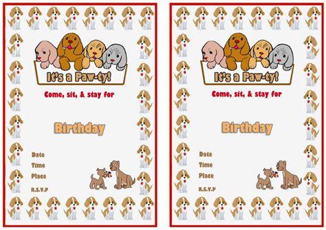 dog lovers birthday invitations birthday printable