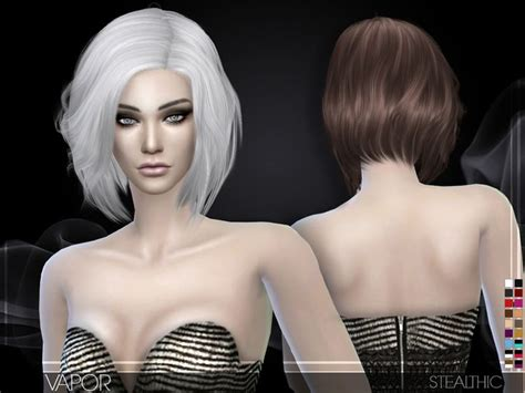 sims  cc hair images  pinterest sims hair