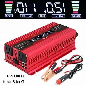 5000w Peak Car Vehicle Power Inverter Converter Dc