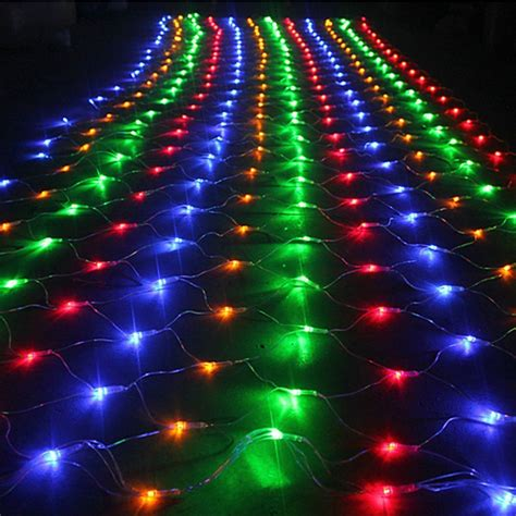 net lights for trees 1 5mx1 5m 96 led net mesh fairy string light christmas