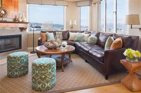 decorating with brown leather couches how to decorate with brown leather furniture klein on