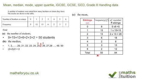 grade 6 math worksheets median mode math ranges and