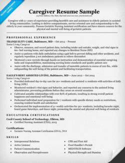 15181 caregiver resume exles social work resume sle writing tips resume companion