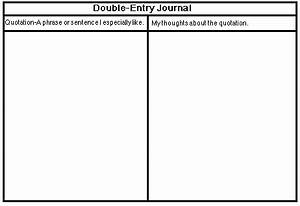 literacyrkc double entry journal With double entry journal template for word