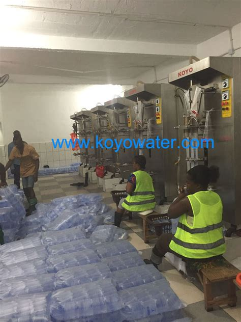koyo purifier water sachet packaging machine  liberia koyo water sachet produce linekoyo