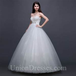ball gown sweetheart empire waist tulle lace beaded With empire waist ball gown wedding dress