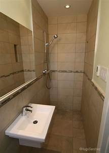 open doorless shower ceramiques hugo sanchez inc With doorless showers for small bathrooms