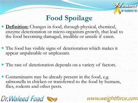 cuisines meaning 5th lecture food spoilage overview