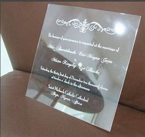 custom and unique acrylic invitations common printing With wedding invitation printing methods