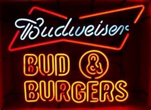 Budweiser and Burgers Neon Sign