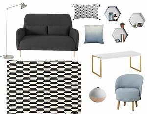 decorer un salon dans le style scandinave joli place With tapis de souris personnalisé avec canapé fifties habitat