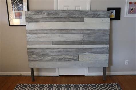 diy white grey pallet headboard pallet furniture plans