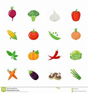Vegetable Full Color Flat Design Icon. Stock Vector ...
