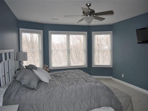 Blue gray bedroom, blue gray bedroom walls yellow walls
