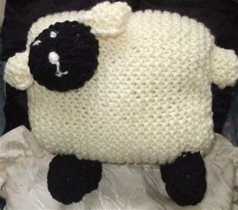 sheep pillow     shaped cushion knitting