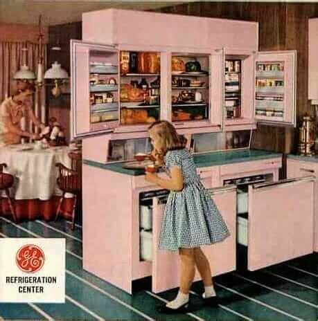 ge wall refrigerator freezer   innovation  design  retro renovation
