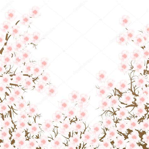 foto de Fundo de vector de ramo de flor de cerejeira Vetor de