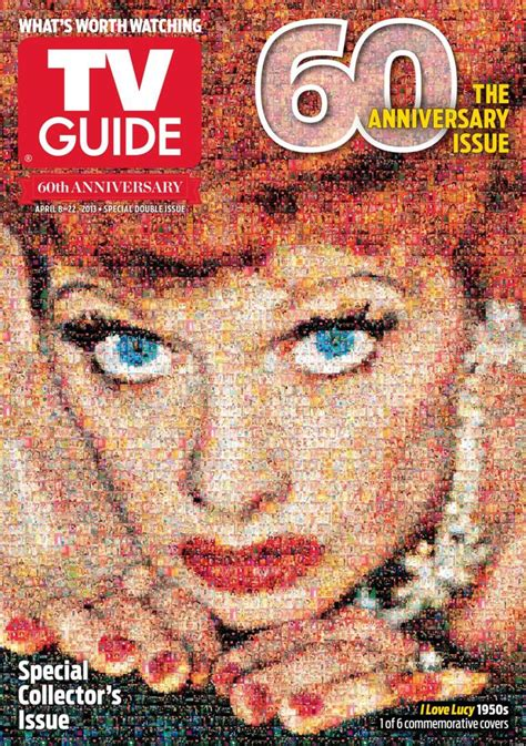 tv guide anniversary lucy 60th covers magazine mosaic featuring magazines lost issue celebrates special edition newsstands issues huffpost years guides