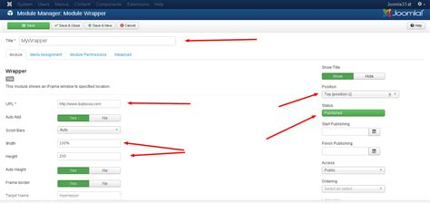 How To Create A Form In Joomla Module by How To Add Joomla Wrapper Module