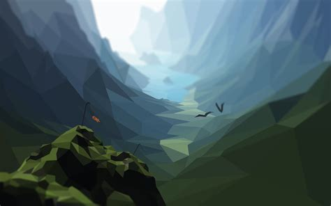 Low Poly Mountains  Hd By Plebmaster On Deviantart