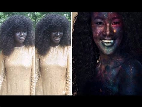 darkest color in the world the darkest model who was bullied because of skin