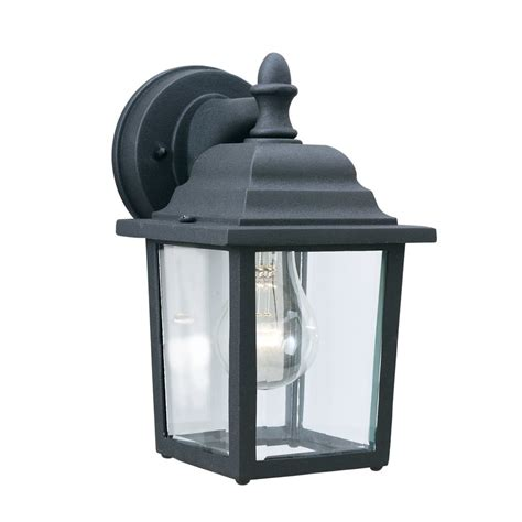 shop lighting hawthorne 10 in h matte black outdoor