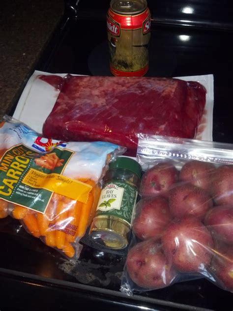 crock pot corned beef  beer bacon cabbage  view