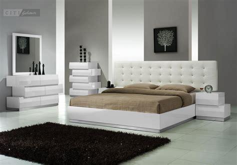 aliya king size modern style bedroom set white pc set