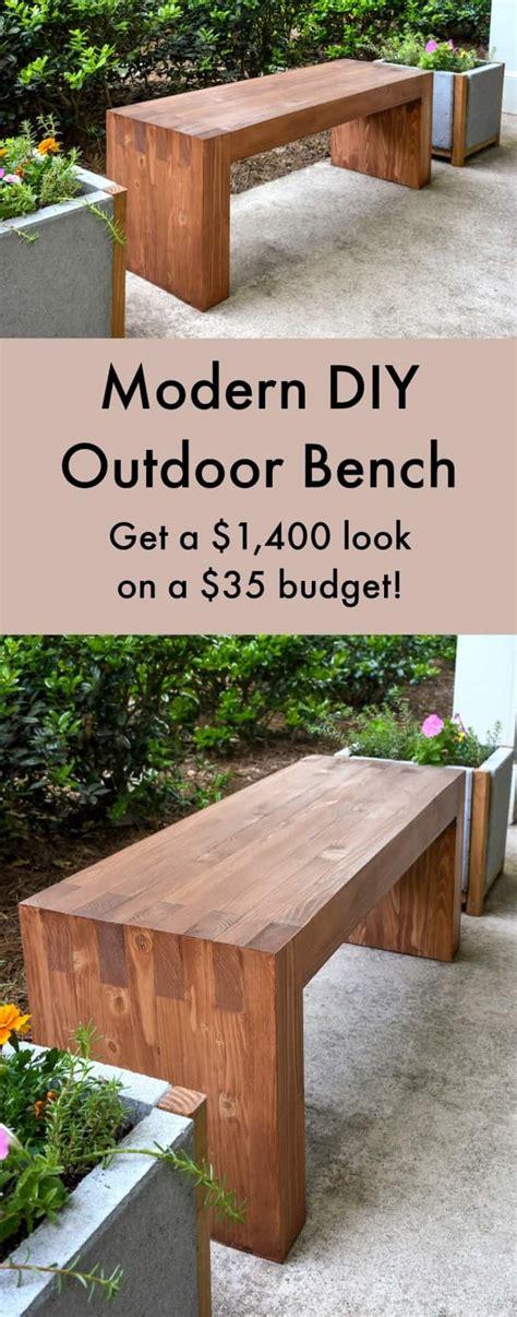 Diy Garden Bench williams sonoma inspired diy outdoor bench diycandy