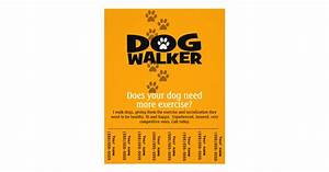dog walking business tear sheet flyer template zazzle With dog walking flyer template free