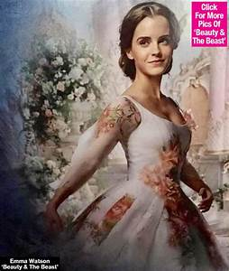 Pic belles wedding dress revealed see new pic of for Emma watson belle wedding dress
