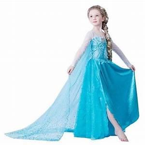 robe elsa deguisement costume fille de 2 a 10 ans look With robe deguisement fille