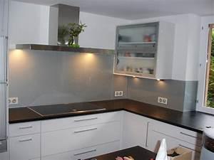 Crédence Cuisine En Verre : cr dence en verre laqu paisseur 6 mm avec impression ~ Premium-room.com Idées de Décoration
