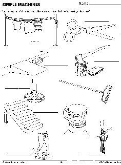 simple machines lever science worksheets and simple
